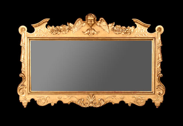 An early 20th century giltwood mirror