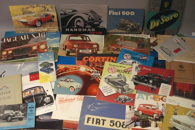 A quantity of assorted post-War sales literature,