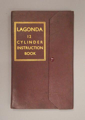 A Lagonda 12 Cylinder instruction book,