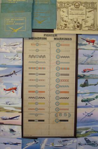 Five 'Air League of the British Empire' albums, circa 1938,
