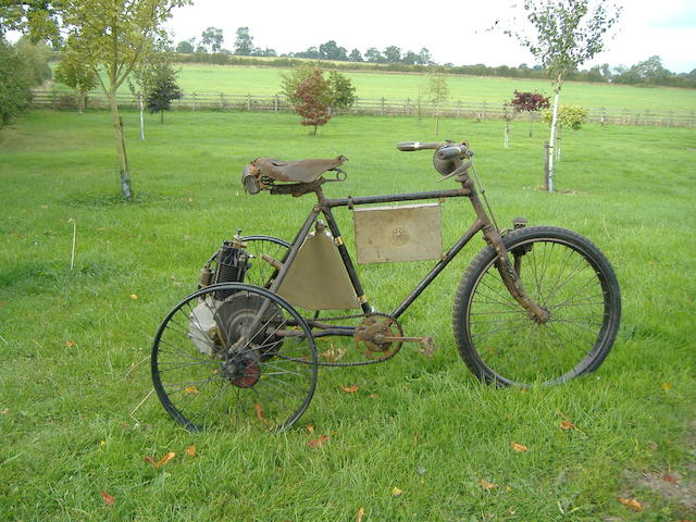 1900 Marot-Gardon 2 3/4hp De Dion-engined Tricycle  Engine no. 16352