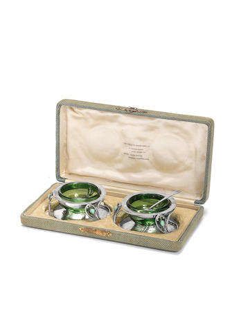Charles Robert Ashbee for The Guild of Handicraft  A pair of silver Salts, 1901