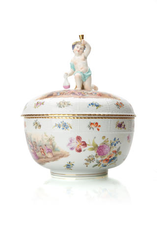 A large Berlin outside decorated tureen Late 19th century