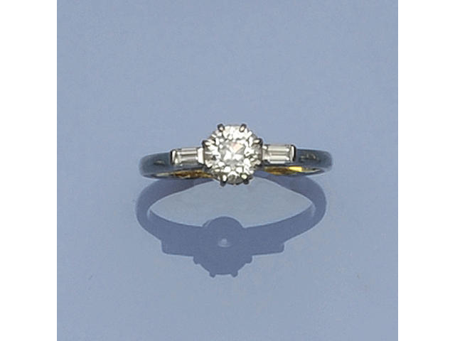 An 18ct yellow and white gold diamond ring