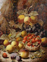 Oliver Clare (British, 1853-1927) Still life of fruit