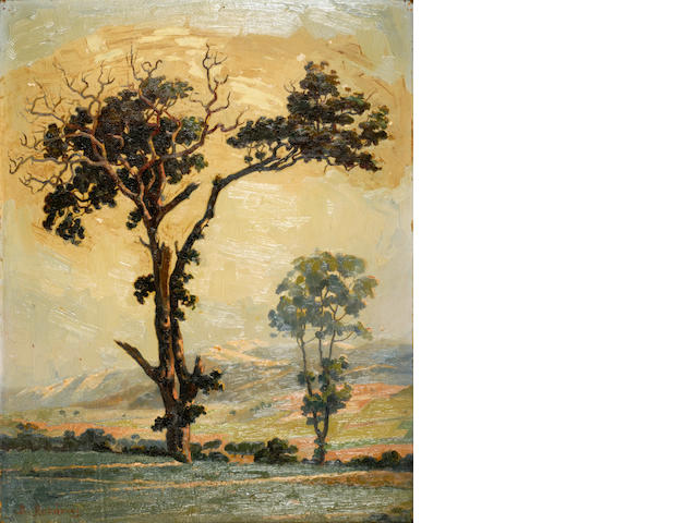 Vassilis Ithakissios (Greek, 1878-1977) Trees 46 x 36.5 cm.