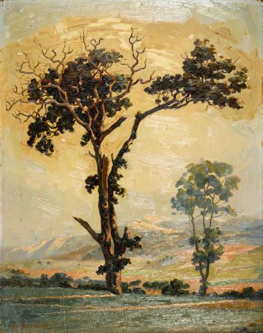 Vassilis Ithakissios (Greek, 1878-1977) Trees 46 x 36.5 cm.