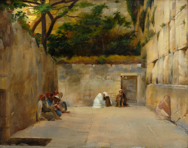 Théodore Jacques Ralli (Greek, 1852-1909) The Wailing Wall, Jerusalem