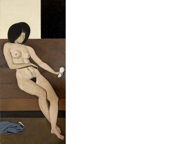 Yiannis Moralis (Greek, born 1916) Nude A' 186 x 86 cm.