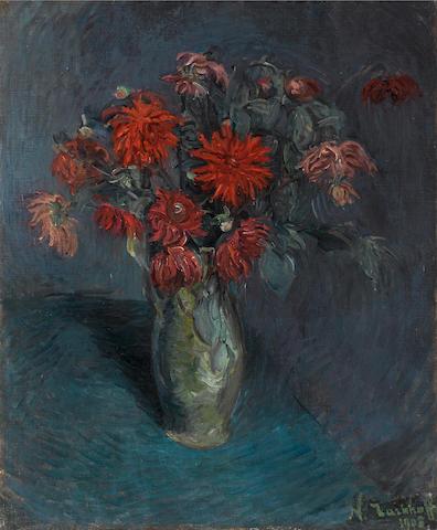 Nikolai Aleksandrovich Tarkhov (Russian, 1871-1930) Flowers in a vase