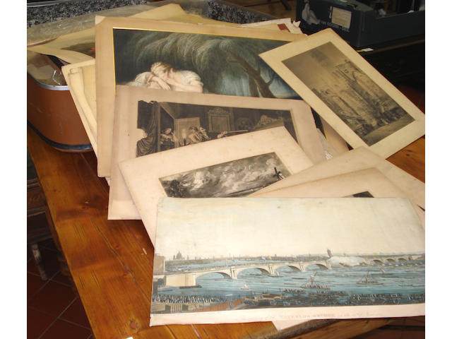 A large quantity of various 19th century decorative prints and engravings, all unframed, a lot.