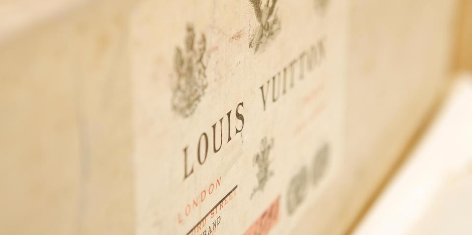 A 1920's Louis Vuitton traveling trunk
