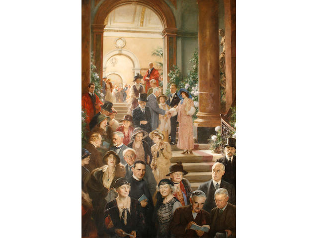 Arthur Trevithin Nowell (British, 1862-1940) Private view day at the Royal Academy, 1933