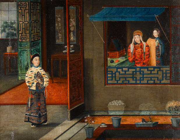A painting of a Mandarin girl