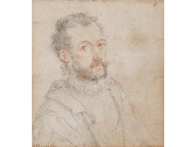Attributed to Federico Zuccaro (Italian, born circa 1540-1609) Portrait of a gentleman, half-length