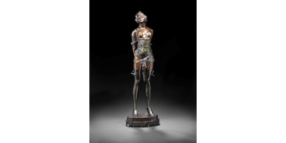 Bruno Zack Whip Girl bronze on lazer base