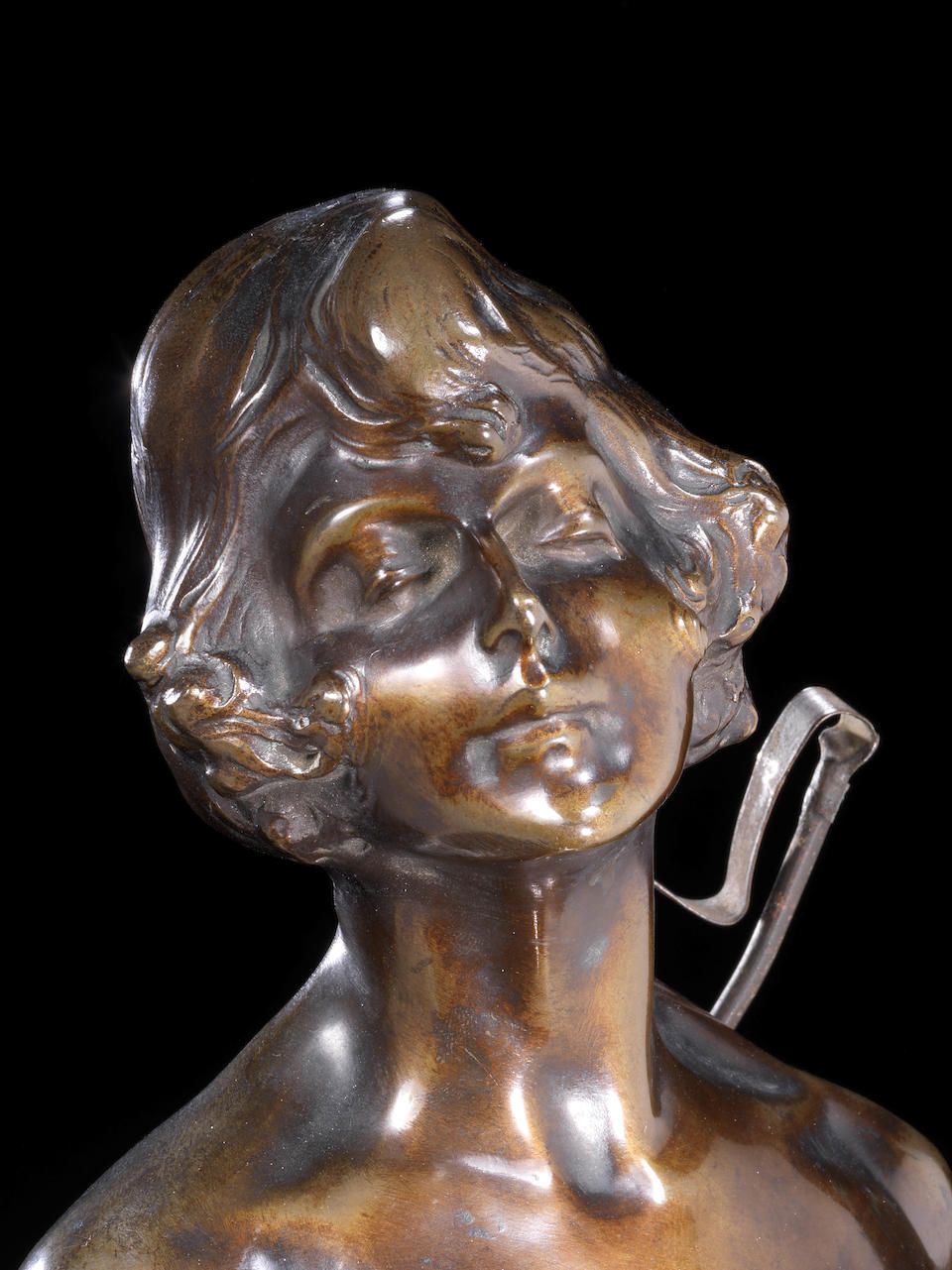 Bruno Zach 'The Riding Crop' an extremely large and rare patinated bronze female Figure, circa 1925