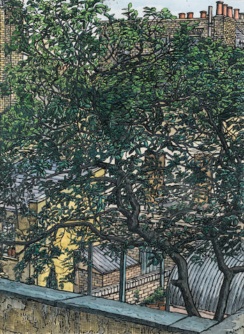 Charles Ginner (French/British, 1878-1952) London, King's Cross 34.3 x 25.4 cm. (13 1/2 x 10 in.)