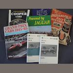 A lot of literature relating to competition cars,