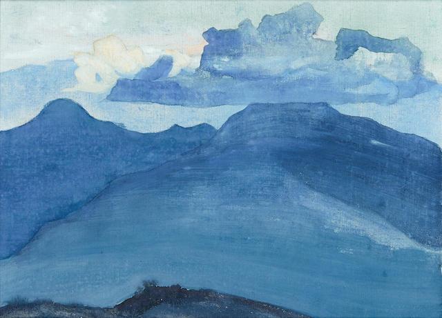 Nikolai Konstantinovich Roerich (Russian, 1874-1947), circa 1924 Mountain Scene