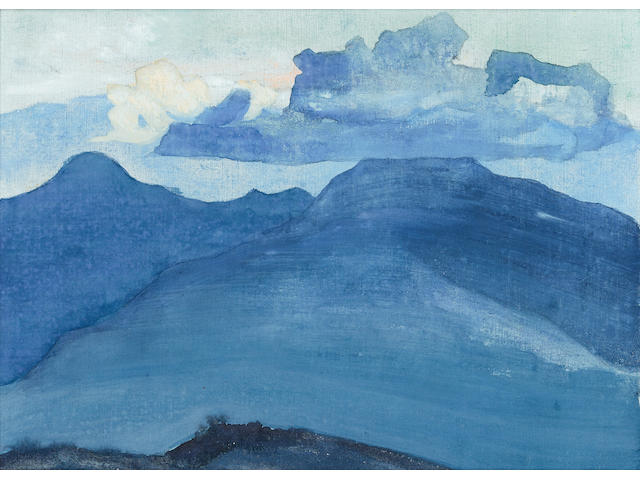 Nikolai Konstantinovich Roerich (Russian, 1874-1947) Cloud, from the 'Himalayan' series, 1924