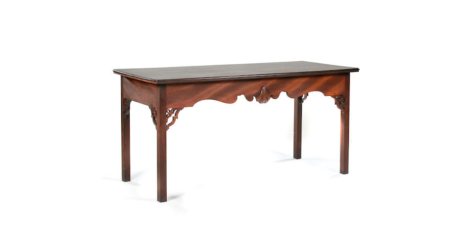 A George III Irish mahogany serving table, circa 1780