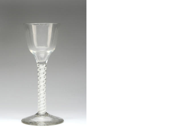 An air twist wine glass Circa 1770