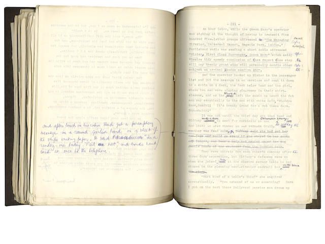 FLEMING (IAN) Typescript manuscript of Diamonds