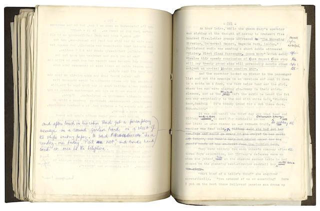 FLEMING (IAN) Typescript manuscript of Diamonds