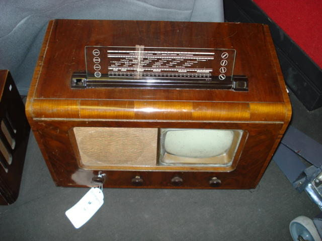 A Philips table model television and wireless, type 563A, 1947,