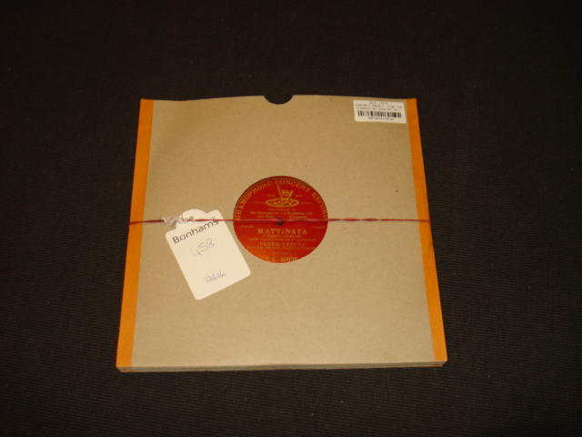 Gramophone and Typewriter Ltd red label records: five single-sided 10-inch records,