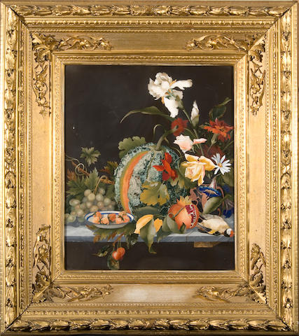 A 19th Century Italian pietra dura still life panel