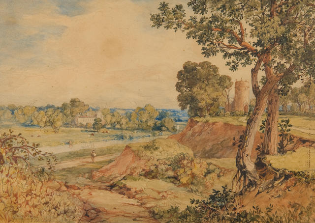 John Joseph Cotman (British, 1814-1878) Landscape at Whitlingham