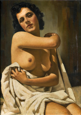 Serge Ivanoff (Russian, 1893-1983) A half naked beauty