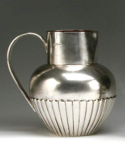 A Victorian beer jug by Nathan & Hayes, Chester 1901
