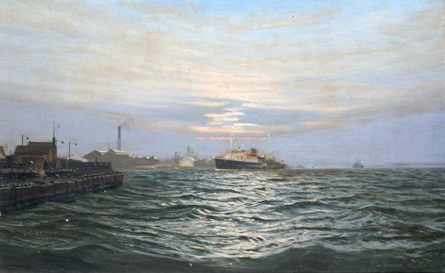 Gordon Ellis (British, 1921-1979) 'Liverpool Pilot', sailing vessel on the River Mersey,