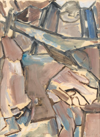 David Bomberg (British, 1890-1957) The Family 42 x 31.8 cm. (16 1/2 x 12 1/2 in.)