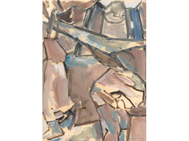 David Bomberg (British, 1890-1957) The Family 42 x 31.8 cm. (16 1/2 x 12 1/2 in.)