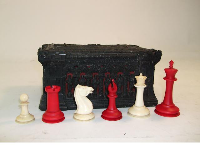 A Staunton ivory chess set, Jaques, 1849,