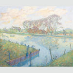 Jean Young (British, born 1914) The Thames at North Stock, Oxon