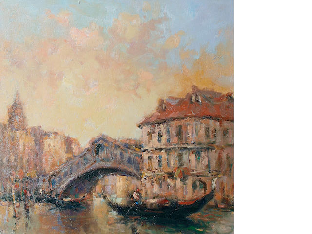 Ken Moroney (British, born 1949) Rialto Bridge, Venice