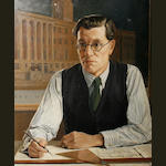 Philip Tennyson Cole (British) 'Portrait of the architect S Rowland Pierce'