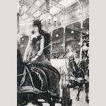 James Jacques Joseph Tissot (French, 1836-1902) Ces dames de chars  (plate)