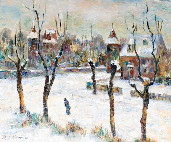Paul D'Aguilar Figure in snow covered street
