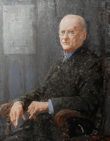 William Lee Hankey (British, 1869-1952) 'Portrait of Charles Francis Annesley Voysey'
