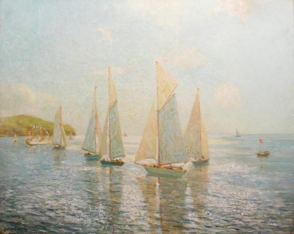 Julius Olssen (1864-1942) Yacht race