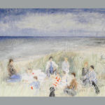Anne J. Shrager (British, born 1948) 'Picnic in the dunes, Norfolk'