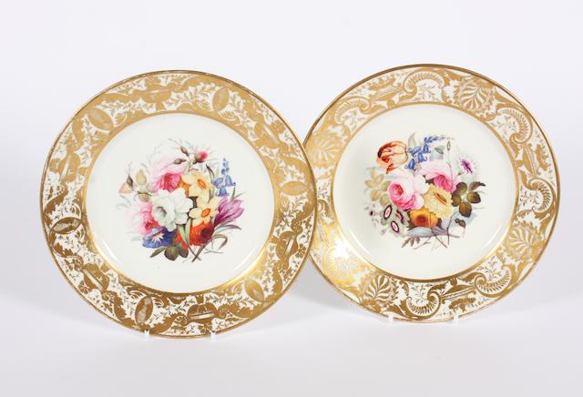 A pair of Derby dessert plates Circa 1820-1830.