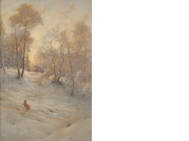 Joseph Farquharson, RA (British, 1846-1935) Fox in the snow