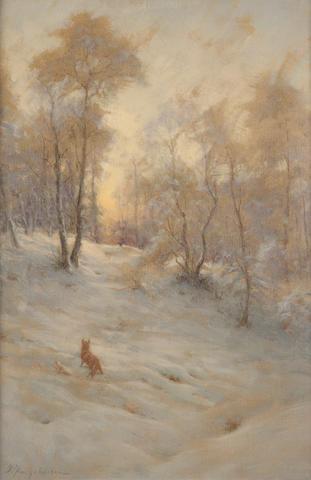 Joseph Farquharson, RA (British, 1846-1935) Fox in the snow